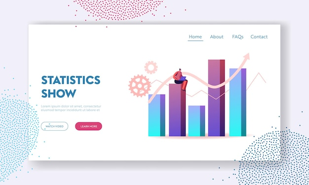 Science statistics or audit analysis inspection landing page template.