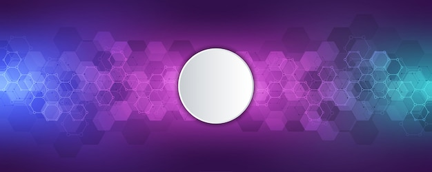 Science and technology background with hexagons pattern