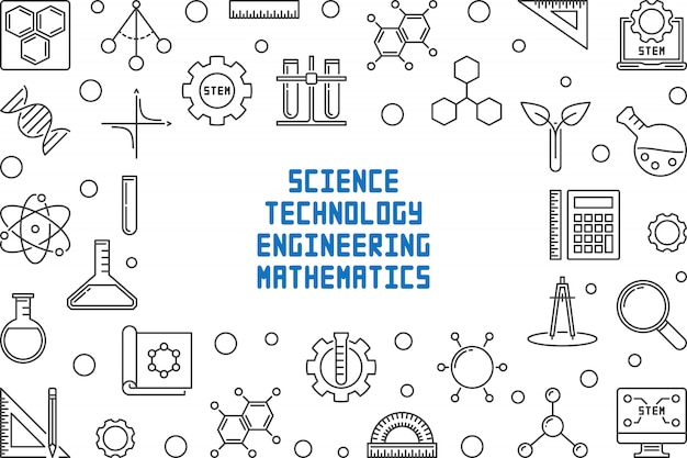Science, technology, engineering and math concept frame