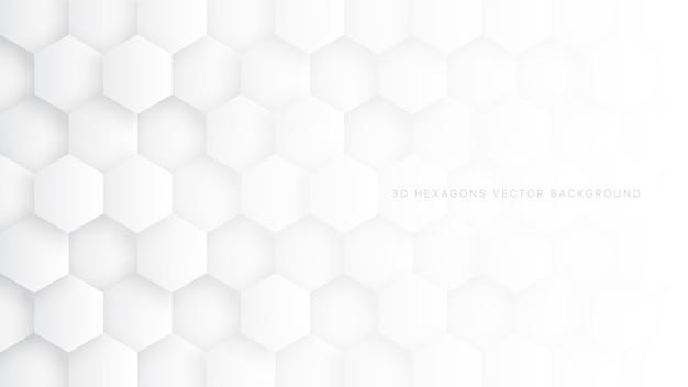 과학 기술 6 각형 구조 백색 추상적 인 배경