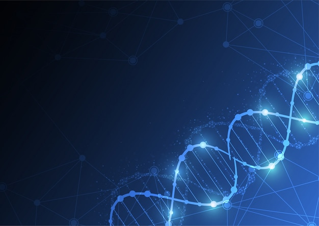 Science template, wallpaper or banner with a dna