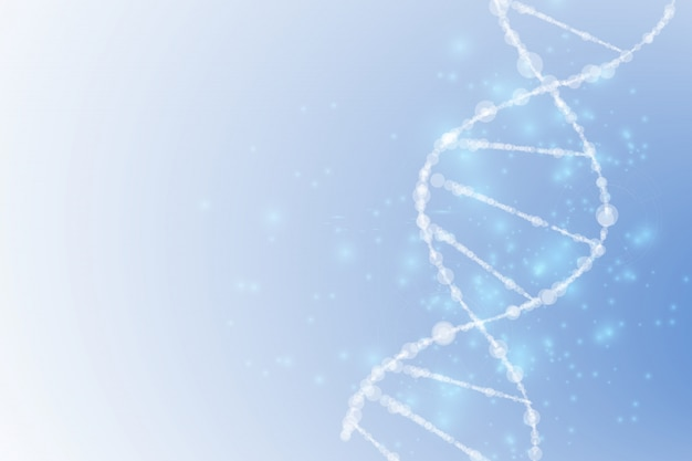 Science , wallpaper or banner with a dna molecules