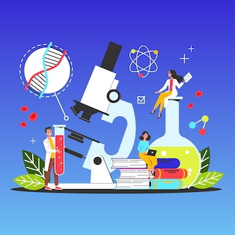 Science web banner concept. idea of education and knowledge