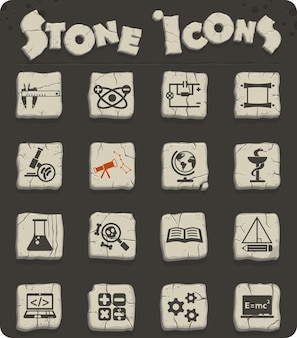 Science web icons for user interface design