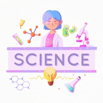 Science word concept