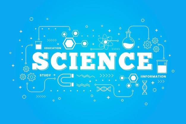 Science word illustrated concept