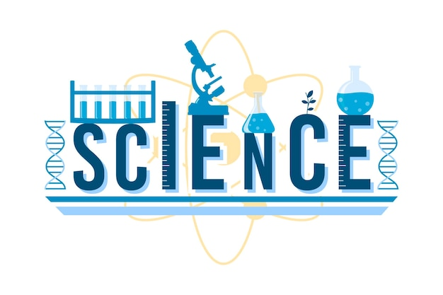 Science word illustrated design
