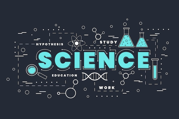 과학 단어 테마