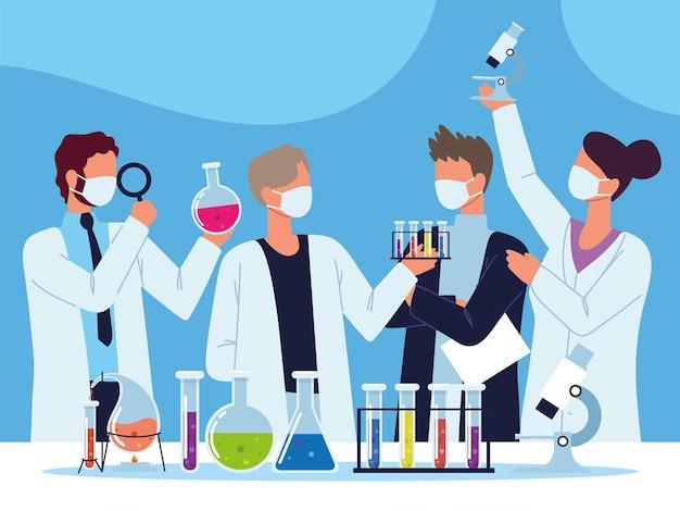 Scientific chemical laboratory test tubes