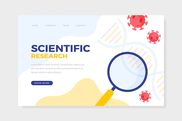 Pagina di destinazione della ricerca scientifica sul coronavirus