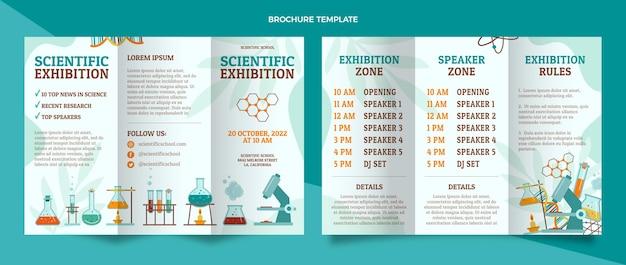Шаблон брошюры научной выставки