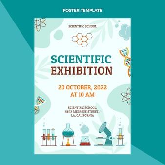 Scientific exhibition poster template