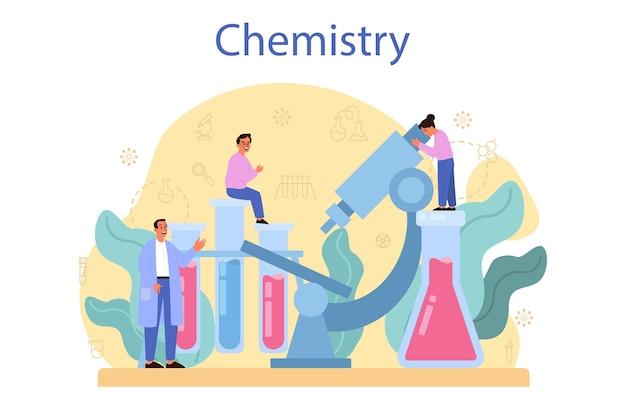 化学装置を使った実験室での科学実験