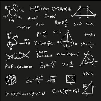 黒板の科学式