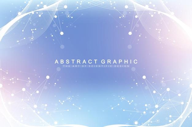 과학 그림 유전 공학 및 유전자 조작 개념