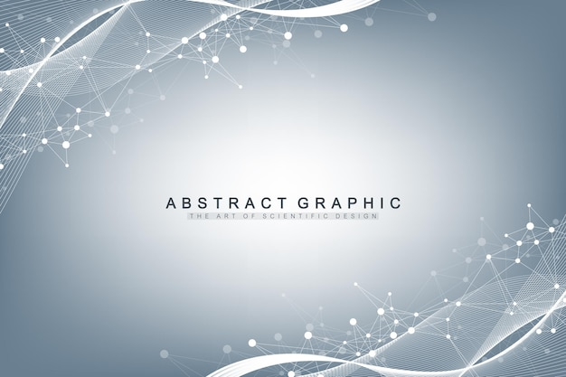 Scientific illustration genetic engineering and gene manipulation concept