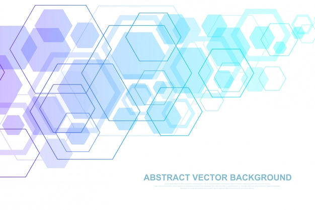 Scientific molecule background for medicine, science, technology, chemistry. wallpaper or banner with a dna molecules, dna digital, sequence, code structure. geometric dynamic illustration