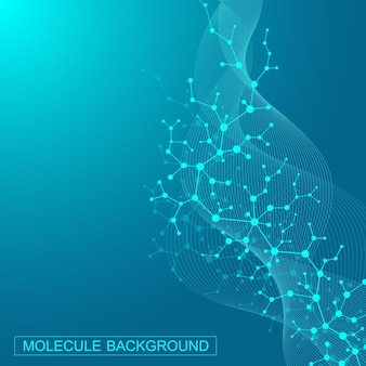 Scientific molecule background for medicine, science, technology, chemistry