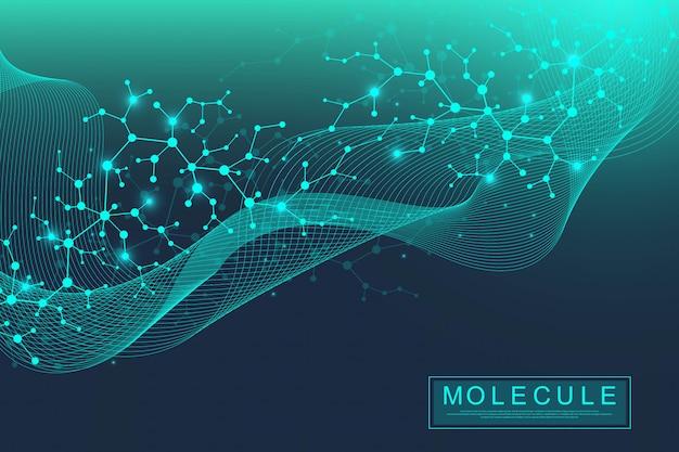 Scientific molecule background.
