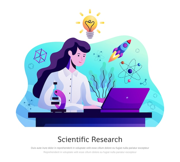 Scientific research abstract composition