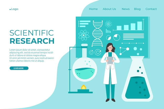 Scientific research landing page