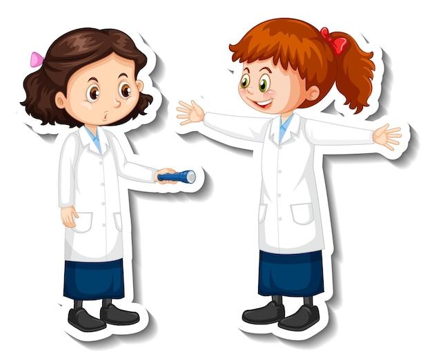 Герои мультфильмов девочек-ученых с объектом научного эксперимента