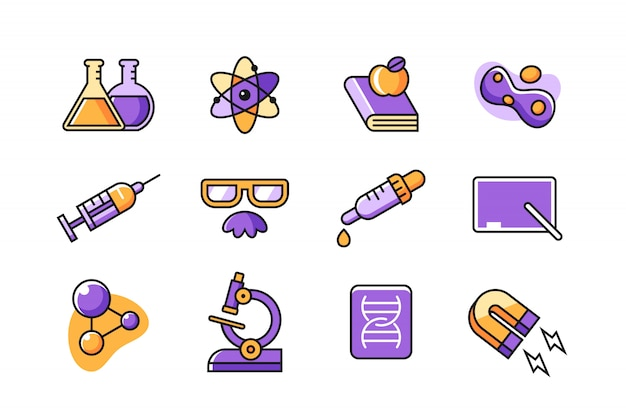 Scientist icon set