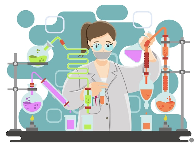 Ученый, исследующий в лаборатории