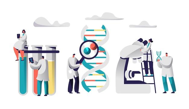 化学実験室の画像における科学者チームの研究医学。