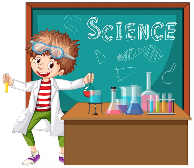 Scientist working with science tools in lab