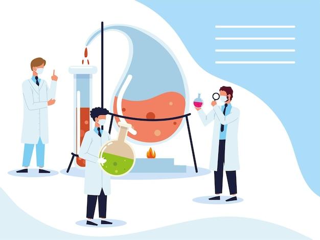 과학자 과학 실험실