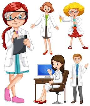 Scienziati in camice bianco