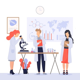 Scientists working concept