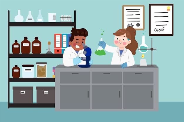 Ученые, работающие в лаборатории