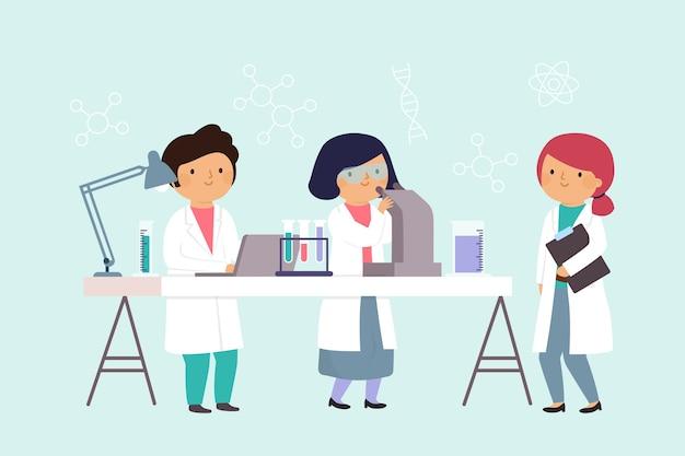 Scienziati che lavorano in laboratorio