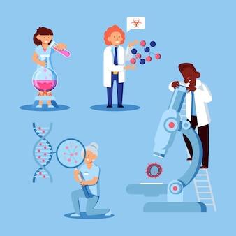 Scientists working set