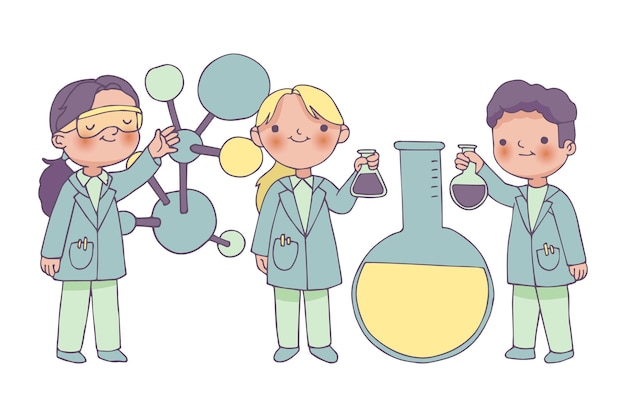 Scientists working together