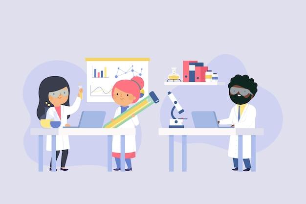 Scientists working