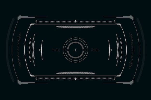 Scifi футуристический пользовательский интерфейс
