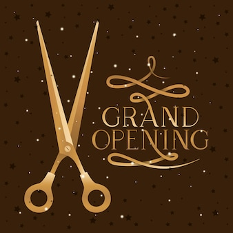 Scissor and grand opening
