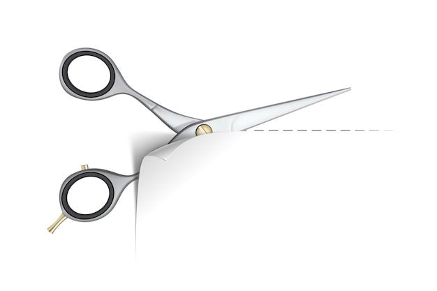 Ножницы режут бумагу