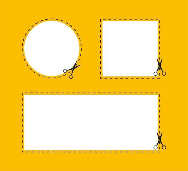 Ножницы в стиле вырезки из бумаги на черном фоне