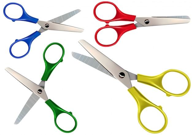 Scissors set isolated on white