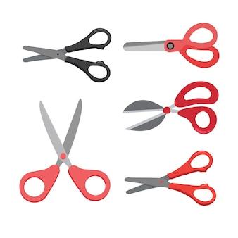 Дизайн векторной коллекции ножниц