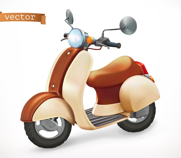 Scooter 3d realistic icon