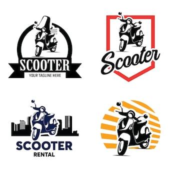 Scooter badge logo template set