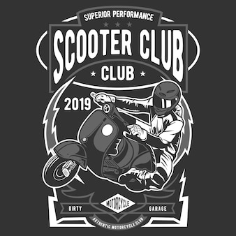 Scooter club badge