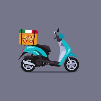 Скутер мотоцикл иллюстрация
