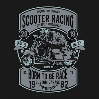 Scooter racer badge