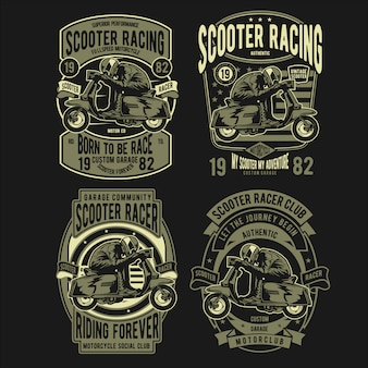 Значок scooter racer